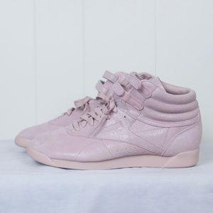 16a4eeab35989d Reebok Shoes - NWOT Reebok Shell Pink Freestyle Hi FBT Sneakers